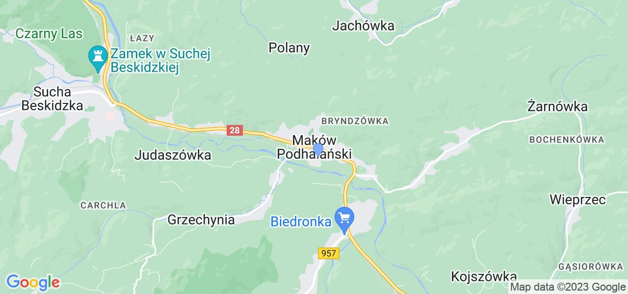 Dostępne w Makowie Podhalańskim lokalizacje punktów nadania, z których możesz skorzystać, chcąc wysłać turbinę do regeneracji w największym serwisie w Polsce