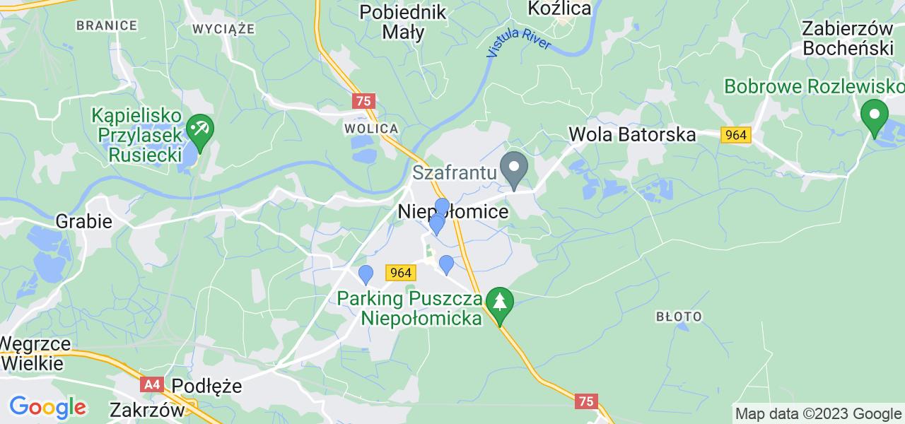 Dostępne w Niepołomicach lokalizacje punktów nadania, z których możesz skorzystać, chcąc wysłać turbinę do regeneracji w największym serwisie w Polsce