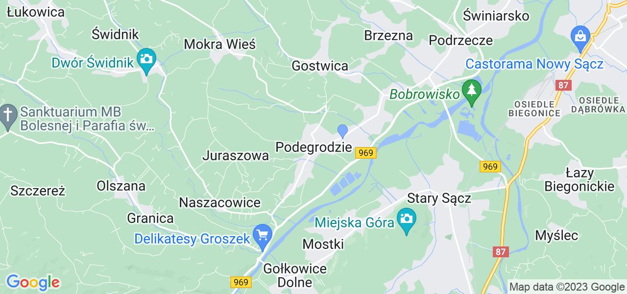 Dostępne w Podegrodziu lokalizacje punktów nadania, z których możesz skorzystać, chcąc wysłać turbinę do regeneracji w największym serwisie w Polsce