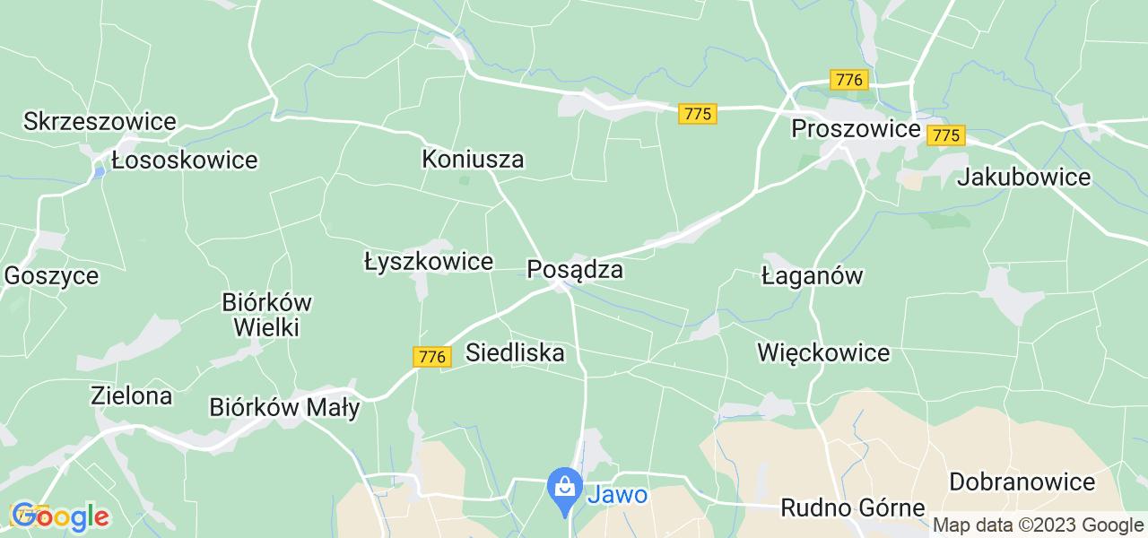 Dostępne w Posądzy lokalizacje punktów nadania, z których możesz skorzystać, chcąc wysłać turbinę do regeneracji w największym serwisie w Polsce