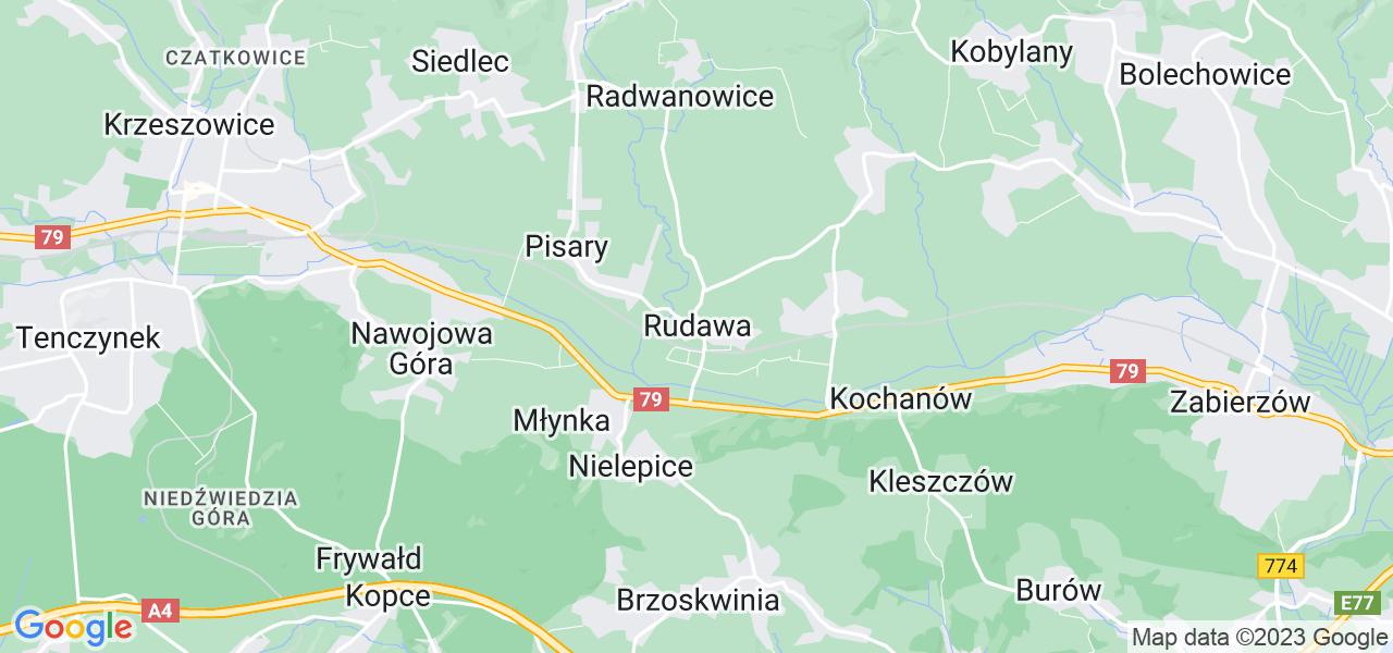 Dostępne w Rudawie lokalizacje punktów nadania, z których możesz skorzystać, chcąc wysłać turbinę do regeneracji w największym serwisie w Polsce