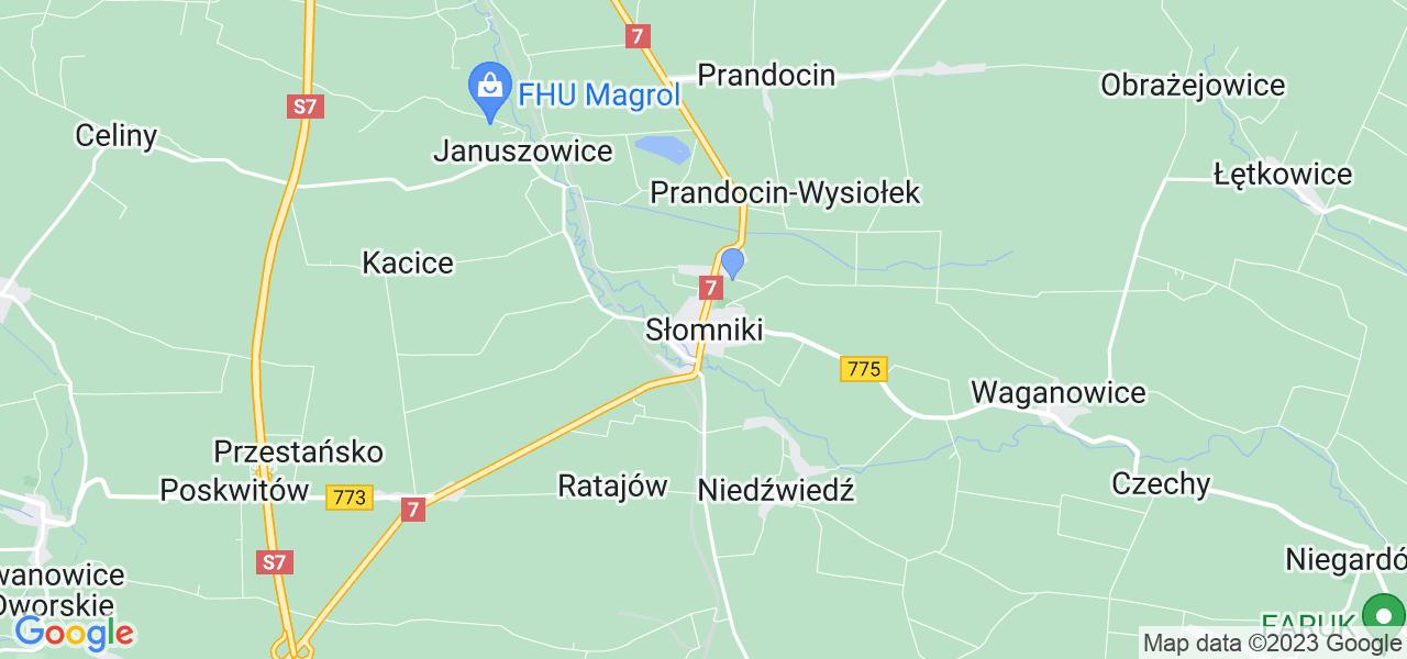 Dostępne w Słomnikach lokalizacje punktów nadania, z których możesz skorzystać, chcąc wysłać turbinę do regeneracji w największym serwisie w Polsce