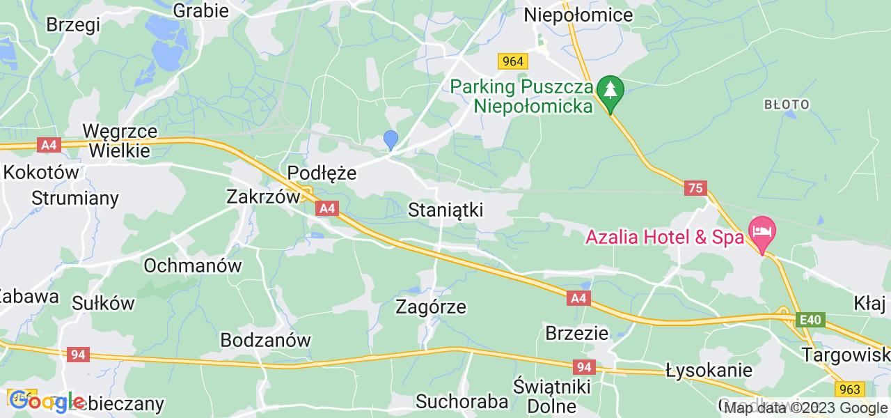 Dostępne w Staniątkach lokalizacje punktów nadania, z których możesz skorzystać, chcąc wysłać turbinę do regeneracji w największym serwisie w Polsce