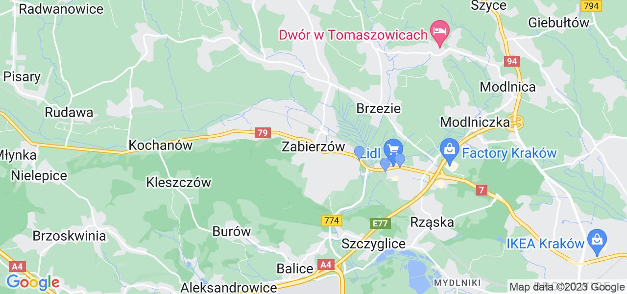 Dostępne w Zabierzowie lokalizacje punktów nadania, z których możesz skorzystać, chcąc wysłać turbinę do regeneracji w największym serwisie w Polsce