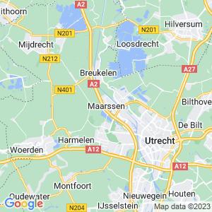 Werkgebied van onze bestrijder in Maarssen