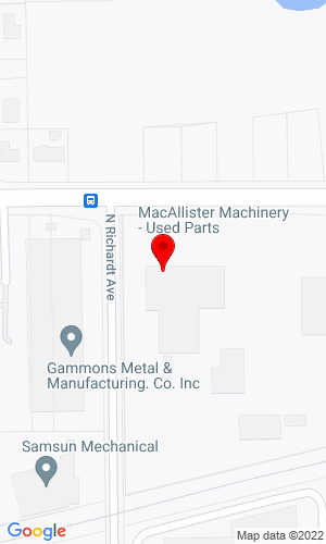 Google Map of MacAllister Machinery Co., Inc. 7515 East 30th Street, Indianapolis, IN, 46219