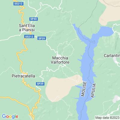 cartina Macchia Valfortore