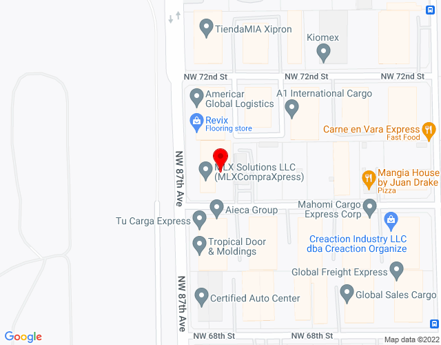 Google Map of 8693 NW 70th Street Miami FL 33166+8693+NW+70th+Street+Miami+FL+33166