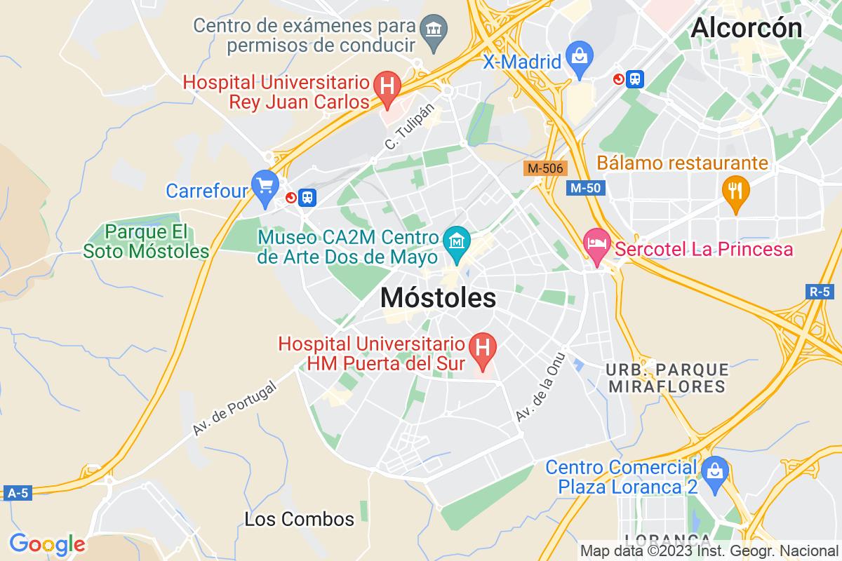 Mapa Madrid MÓSTOLES