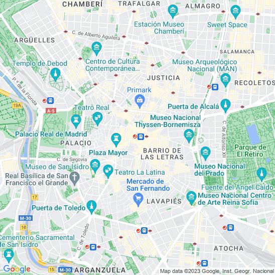 Mapa redondo Madrid