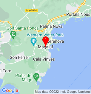 Google Map of Magalluf, Baleares, Spain