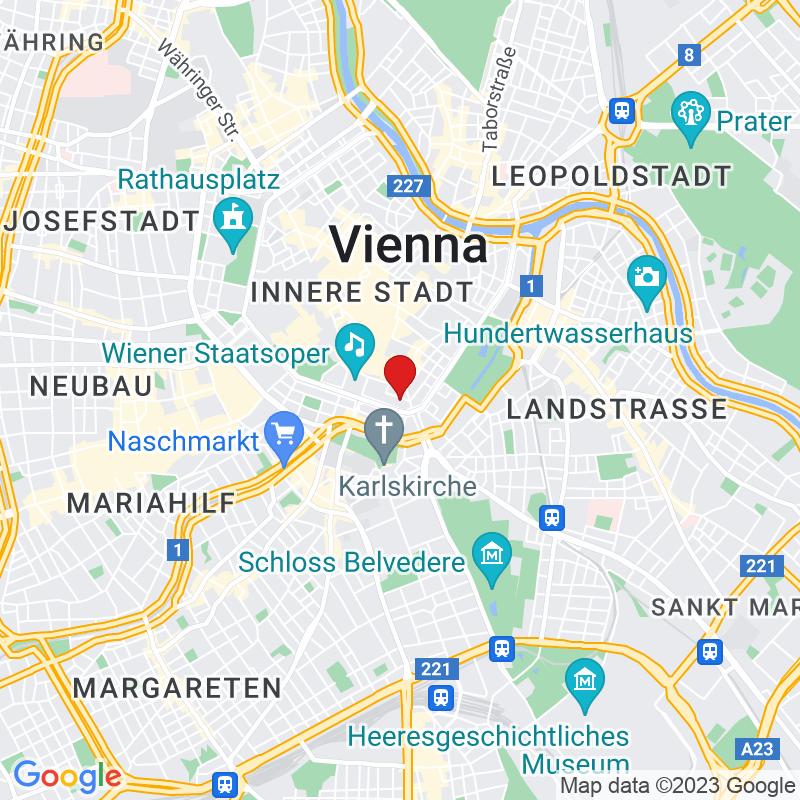 Google Map of Mahlerstraße 14/2, 1010 Wien