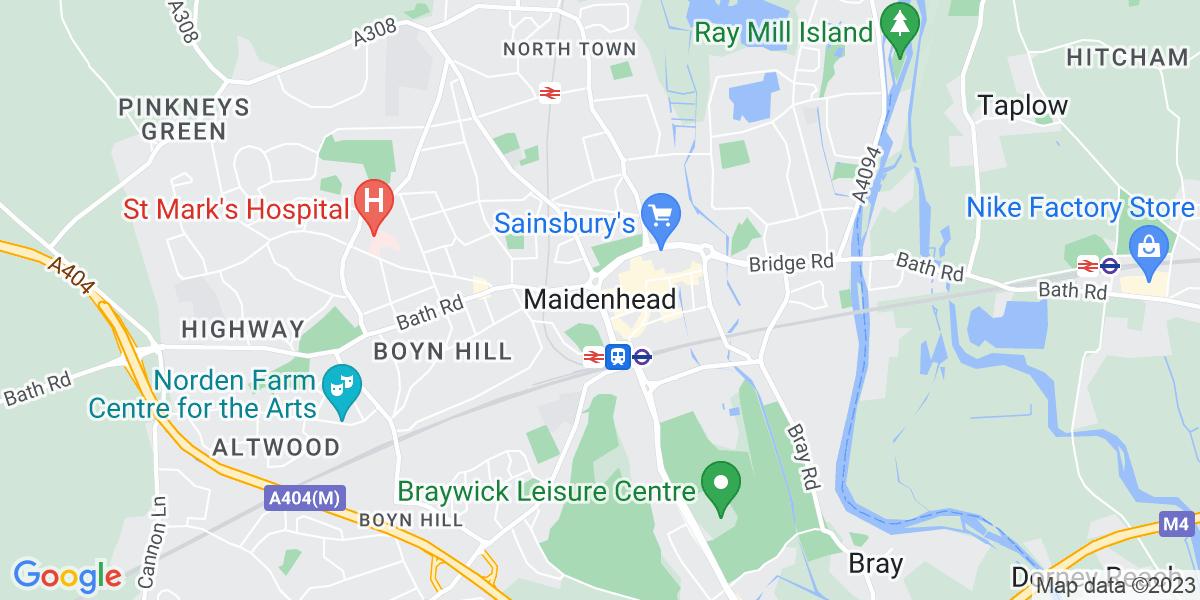 Map: Senior Recruitment Consultant job role in Maidenhead