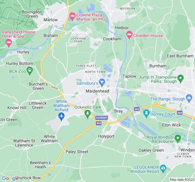 Website Designer Maidenhead Google map of location