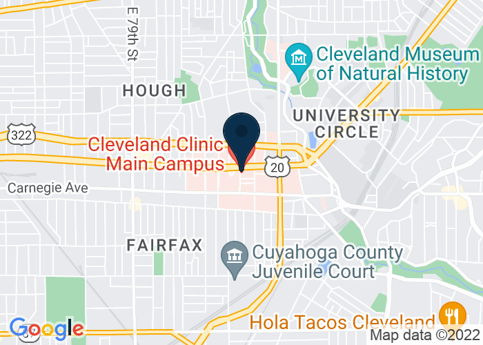 Map of Main Level, Cleveland, OH 44106, United States