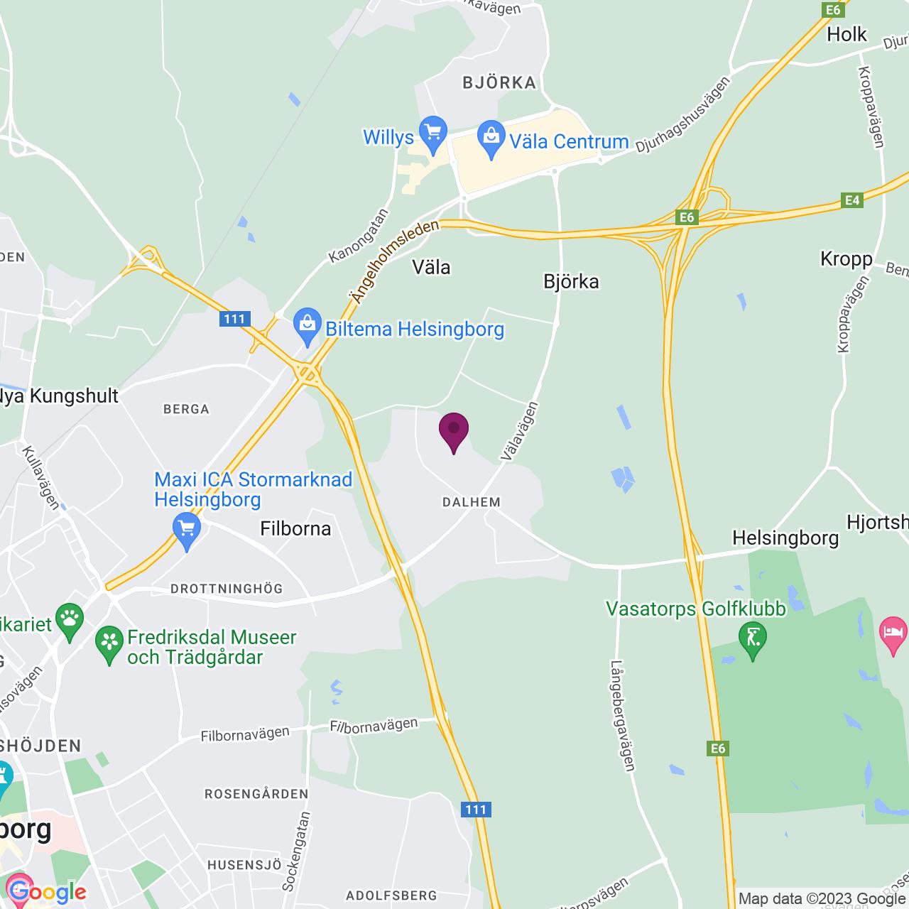 Karta över Makadamgatan 15