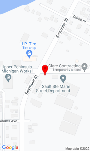 Google Map of Malette Construction 801 Seymour Street, Sault Ste Marie, MI, 49783,
