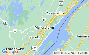 Map of 1000 Islands/Mallorytown KOA