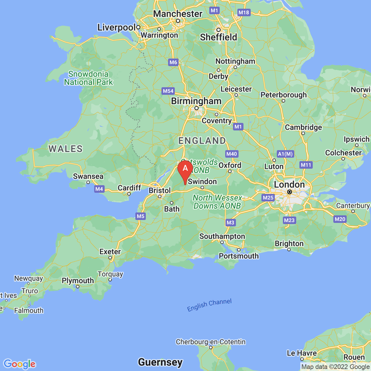 Malmesbury, England Map