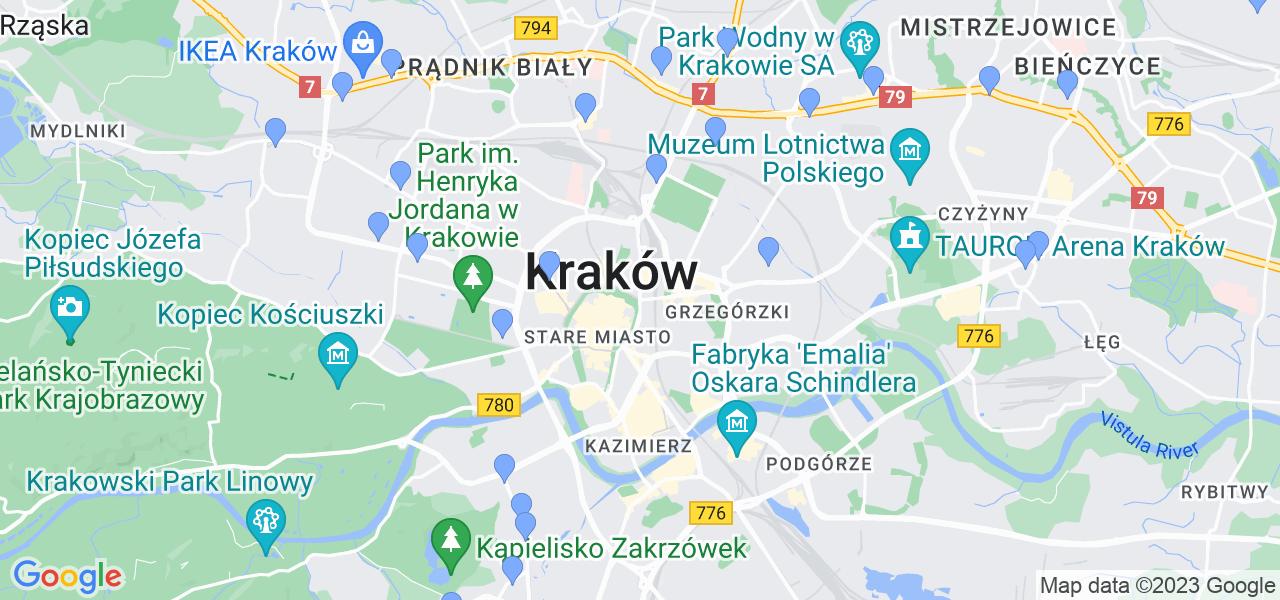 Dostępne w Krakowie punkty wysyłki, z których można wysłać zdemontowany filtr DPF/FAP do czyszczenia w specjalistycznej pracowni