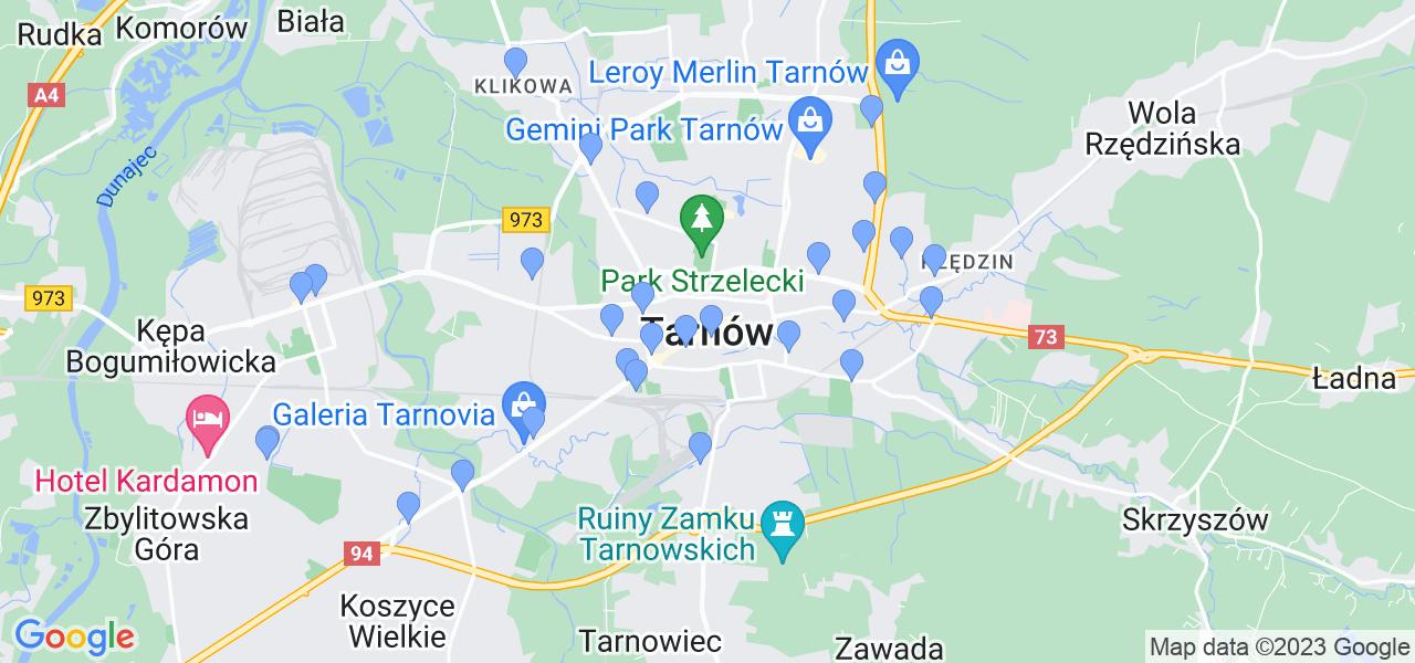 Dostępne w Tarnowie punkty wysyłki, z których można wysłać zdemontowany filtr DPF/FAP do czyszczenia w specjalistycznej pracowni
