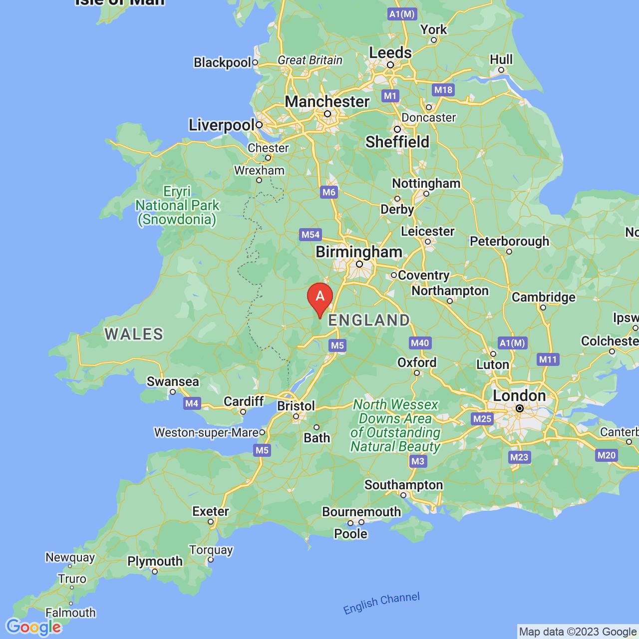 Malvern, England Map