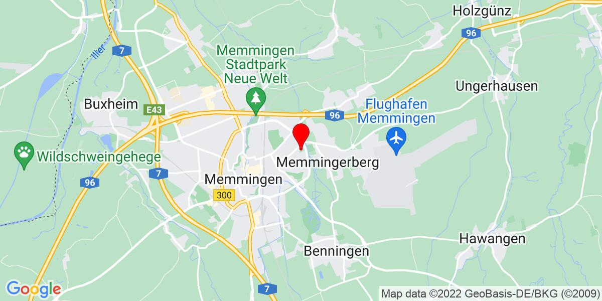 Google Map of Mammostraße 1, 87700 Memmingen