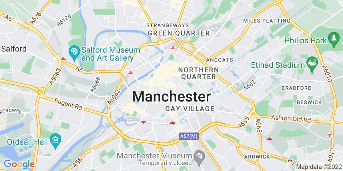 Map: Receptionist job role in Manchester