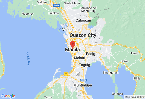 Map of Manila, NCR, Philipines