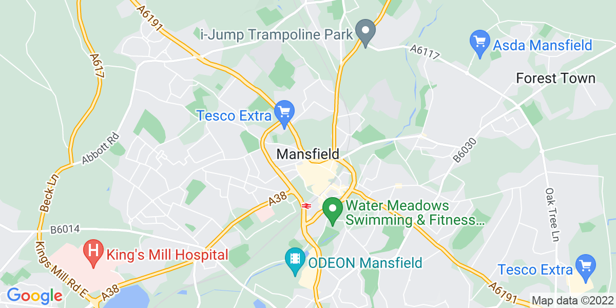 Map: Senior Management Accountant role in Mansfield