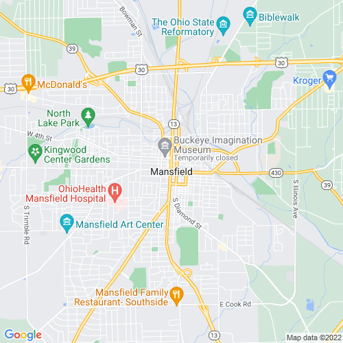 Map of Mansfield, OH