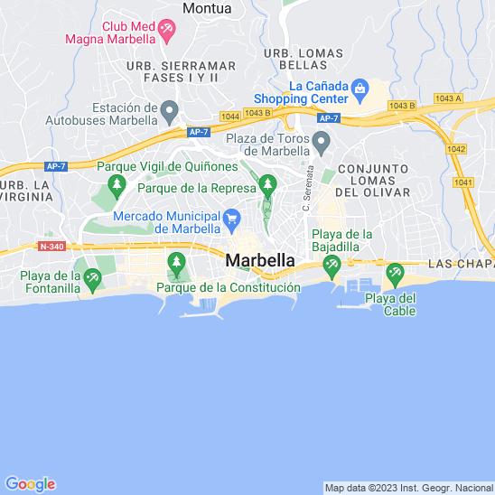Mapa redondo Marbella