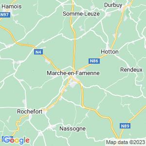 Werkgebied van onze bestrijder in Marche-En-Famenne