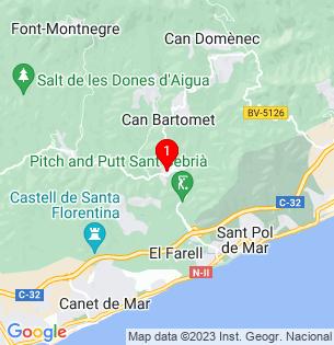 Google Map of Maresme, Sant Cebrià de Vallalta, Barcelona, Spain