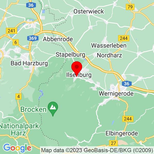 Google Map of Marienhöferstraße 9A 38871 Ilsenburg (Harz)