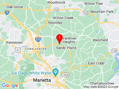 Google Map of Marietta, GA, 30066