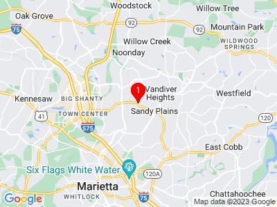Google Map of Marietta, GA, 30066