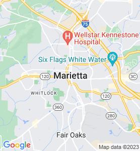 Marietta GA Map