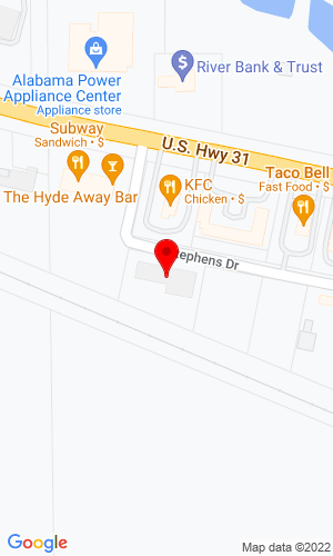Google Map of Mark's Towing and Auto Sales 1940 Big M Blvd, Clanton, AL, 35046