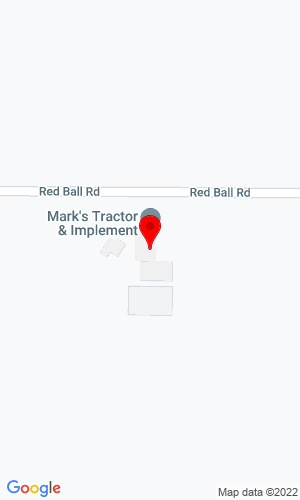 Google Map of Mark's Tractor & Implement Inc. 3787 Red Ball Road, Osage, IA, 50461,