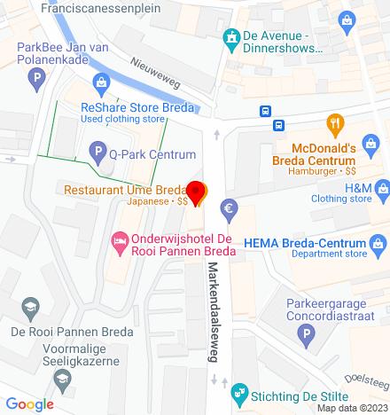 Google Map of Markendaalseweg 64 4811 KC Breda