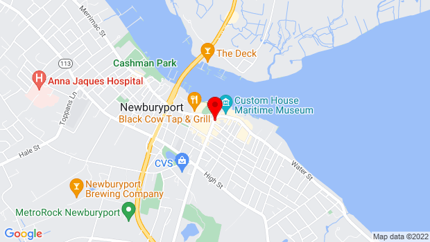 Google Map of Market Sq. & Inn St, Newburyport, MA 01950