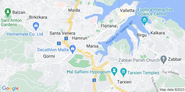 Google Map of Marsa%2C+Malta+1544