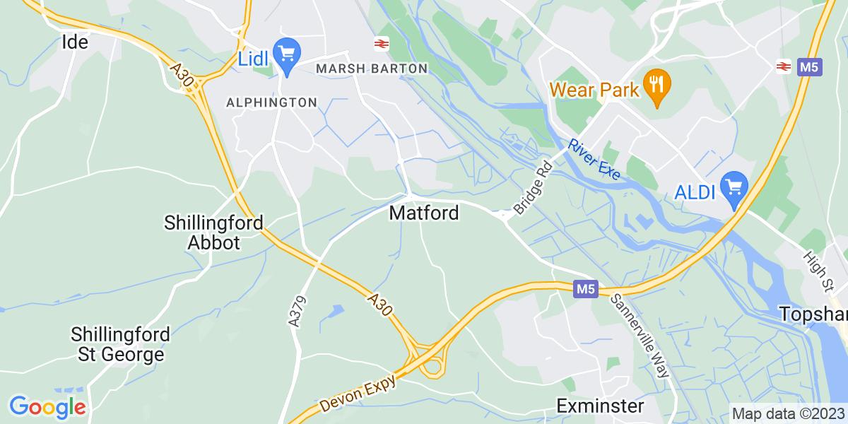 Map: LCV Technician - Exeter, Devon job role in Matford