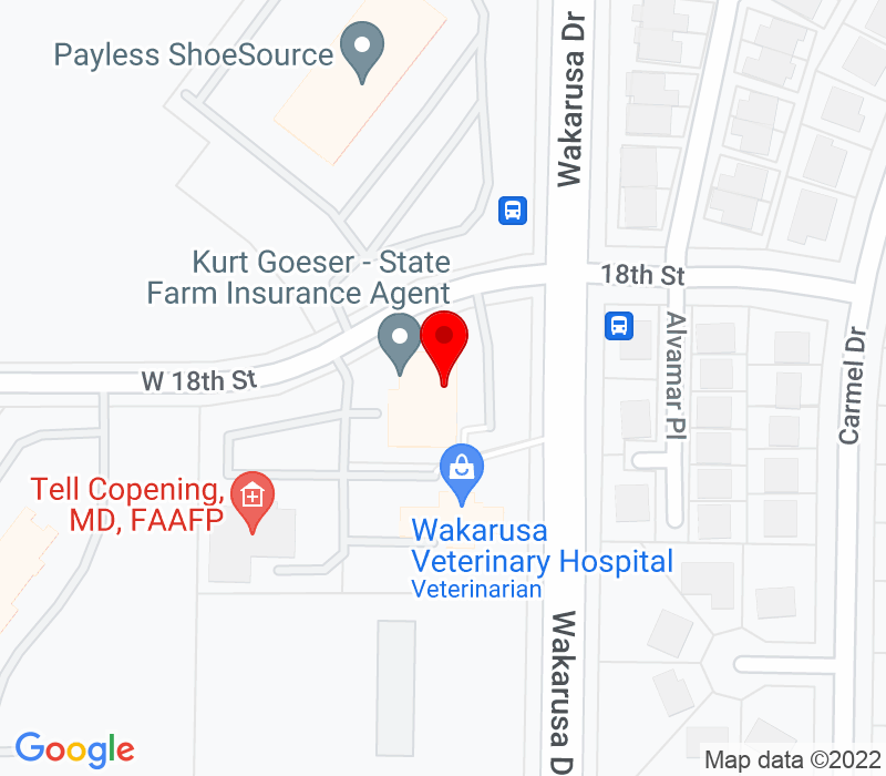 Click to view Google maps office address Mattern Wealth Management Group, 1811 Wakarusa Drive, Suite 103, Lawrence, KS 66047