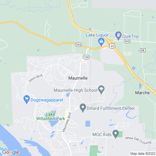 Map of Maumelle, AR