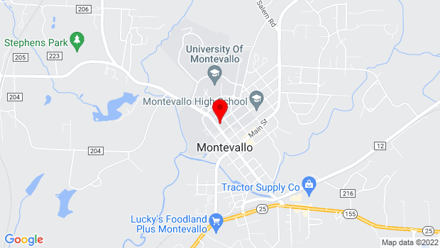 Google Map of Maxine Couch Davis Hall, Highland St, Montevallo, AL 35115