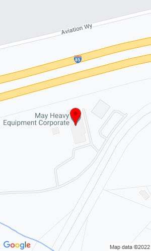 Google Map of May Heavy Equipment 215 Woodside Drive, Lexington, NC, 27292
