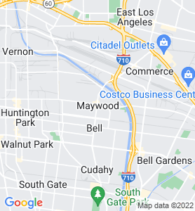 Maywood CA Map