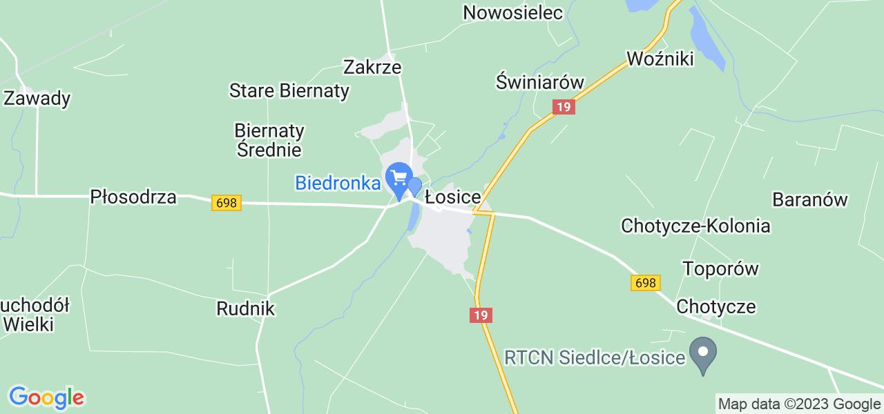 Dostępne w Łosicach lokalizacje punktów nadania, z których możesz skorzystać, chcąc wysłać turbinę do regeneracji w największym serwisie w Polsce
